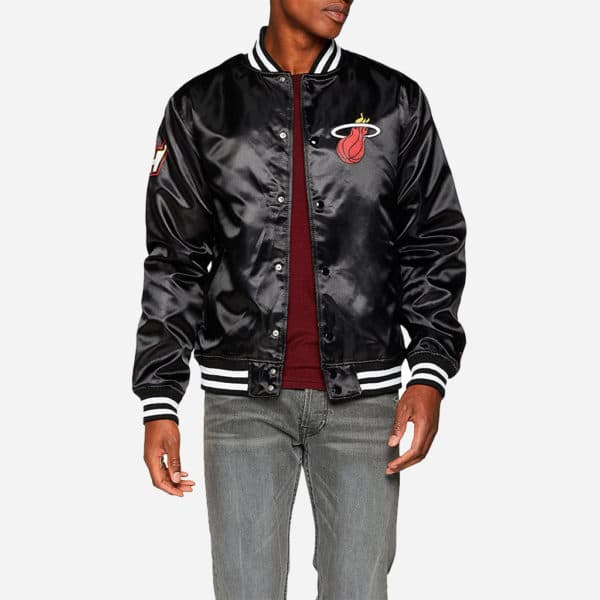 NEW ERA NBA TIP OFF SATEEN BOMBER MIAMI HEAT