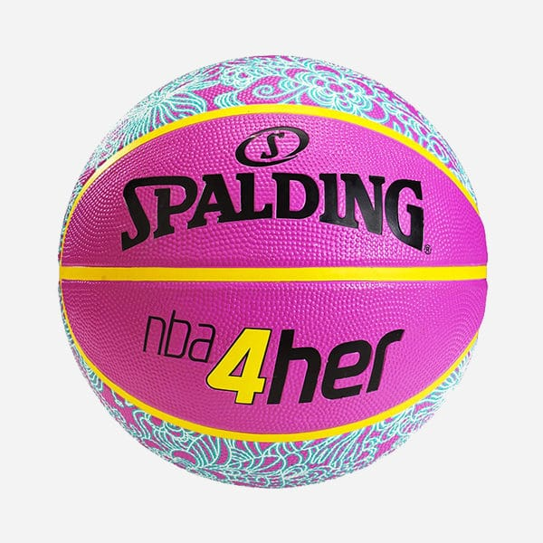 SPALDING NBA 4HER PATTERN PINK SIZE 6