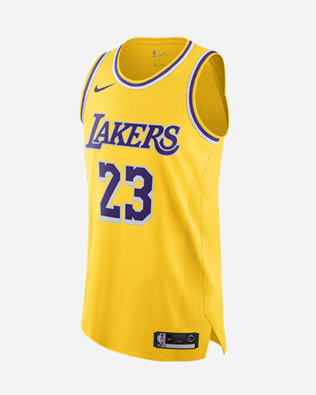 NIKE NBA LOS ANGELES LAKERS AUTHENTIC JERSEY ICON EDITION LEBRON JAMES