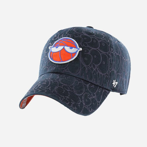 47 BRAND NBA NEW YORK KNICKS GLOBAL ARTIST EDITION LYONS CLEAN UP STRAPBACK