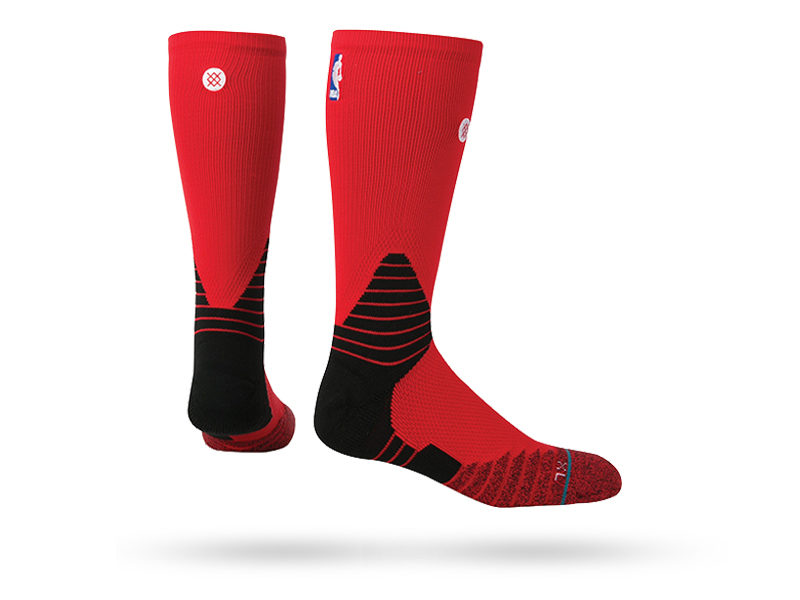 STANCE SOLID CREW SOCKS RED