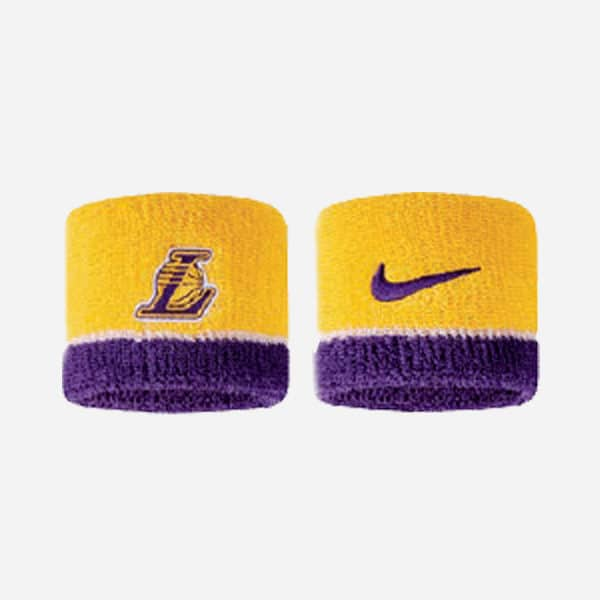 NIKE NBA WRISTBANDS LOS ANGELES LAKERS