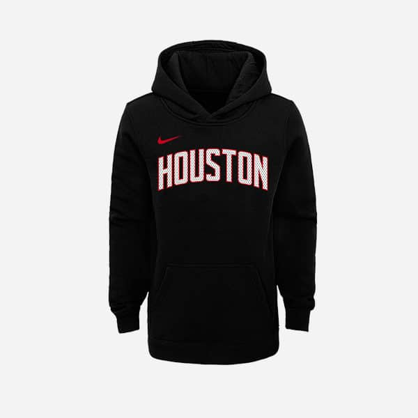 NIKE NBA HOODIE PO CLUB FLEECE LOGO ST HOUSTON ROCKETS