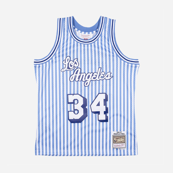 MITCHELL&NESS NBA SWINGMAN JERSEY LAKERS 96 SHAQUILLE ONEAL STRIPED MAN