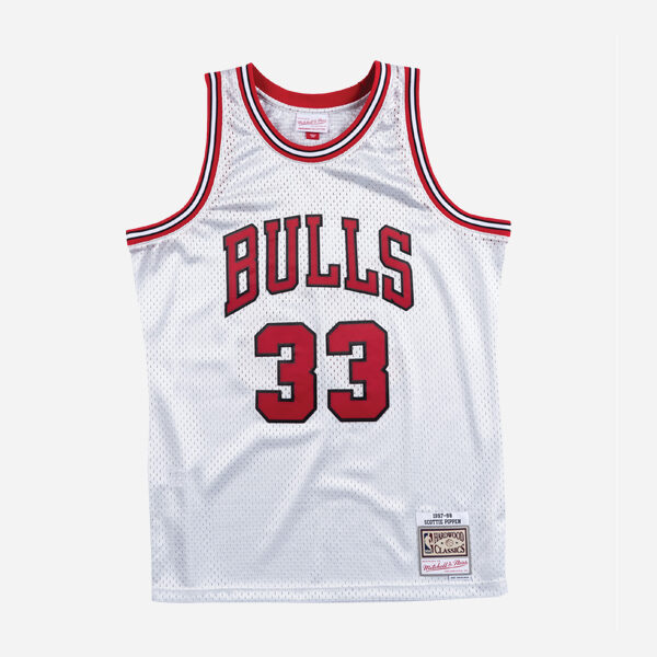 MITCHELL&NESS NBA SWINGMAN JERSEY PLATINUM BULLS 97 SCOTTIE PIPPEN MEN