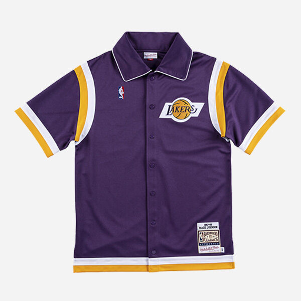 MITCHELL&NESS NBA AUTHENTIC SHOOTING SHIRT LAKERS 1987 KAREEM ABDULJABBAR