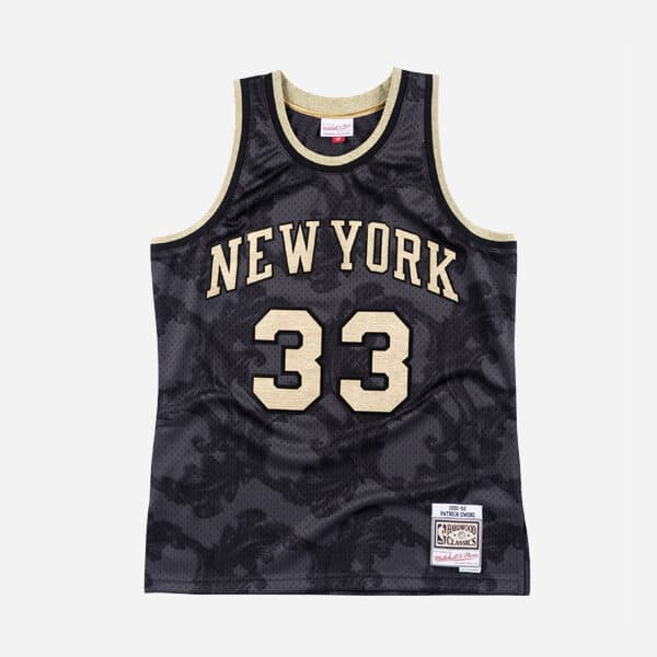 MITCHELL&NESS NBA SWINGMAN JERSEY KNICKS 91 KNICKS PATRICK EWING GOLD TOILE MAN