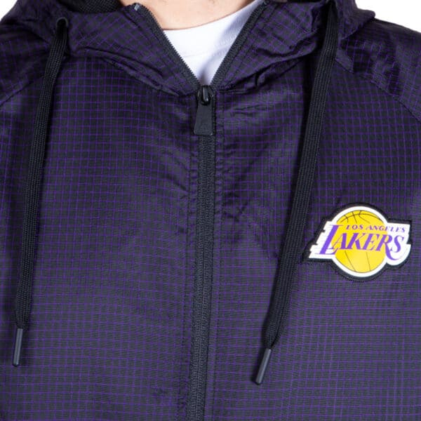 NEW ERA NBA CHECK RIPSTOP WINDBREAKER LOS ANGELES LAKERS