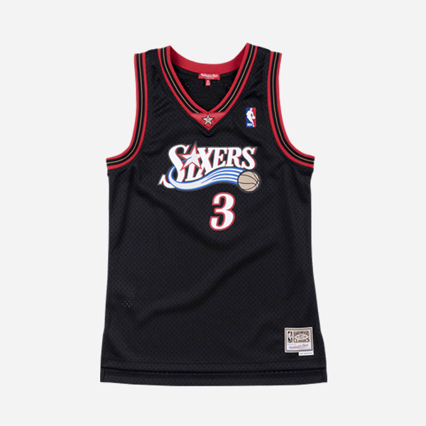 MITCHELL AND NESS NBA SWINGMAN JERSEY PHILADELPHIA 76ERS 00 ALLEN IVERSON MUJER