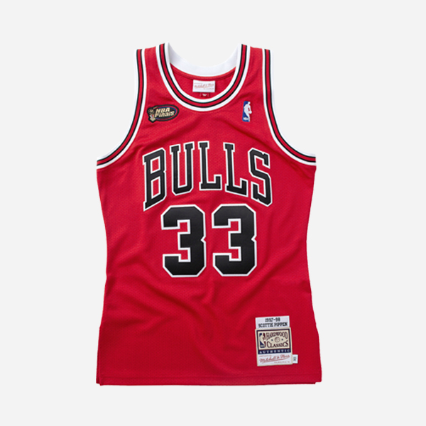 MITCHELL AND NESS NBA AUTHENTIC JERSEY CHICAGO BULLS 97 SCOTTIE PIPPEN