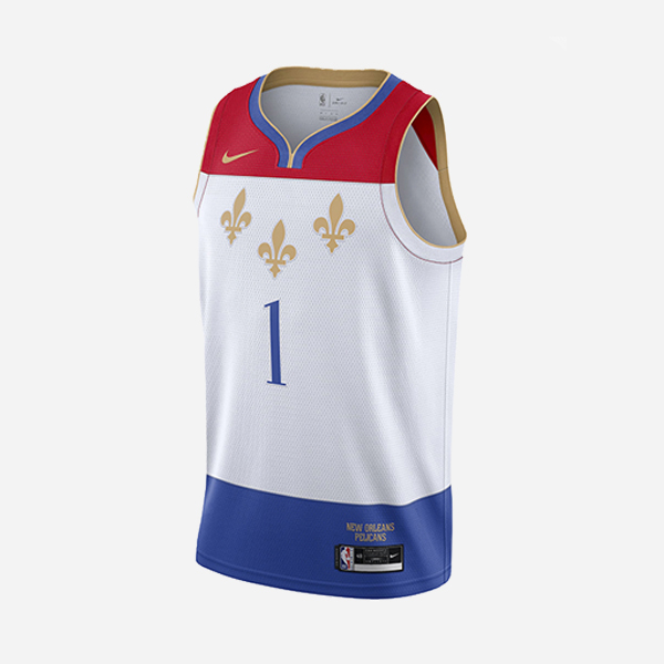 NIKE NBA SWINGMAN JERSEY CITY EDITION NEW ORLEANS PELICANS ZION WILLIAMSON 2020