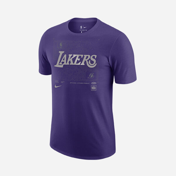 NIKE NBA LOS ANGELES LAKERS COURTISIDE CHROME TEE