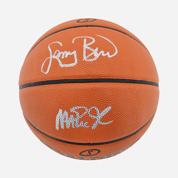 BALON SPALDING ORIGINAL FIRMADO POR LARRY BIRD Y MAGIC JOHNSON (Memorabilia)