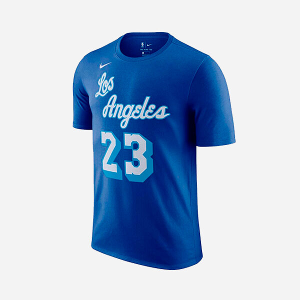NIKE NBA LOS ANGELES LAKERS CITY EDITION NAME AND NUMBER  LEBRON JAMES