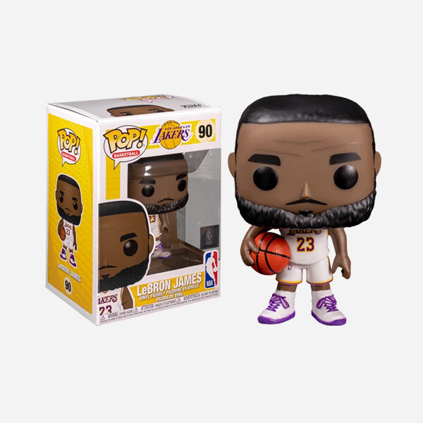 FUNKO POP NBA LOS ANGELES LAKERS LEBRON JAMES ALTERNATE 90 (WHITE UNIFORM)