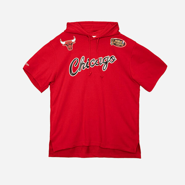 MITCHELL AND NESS NBA HOODIE GAME DAY SS FT CHICAGO BULLS
