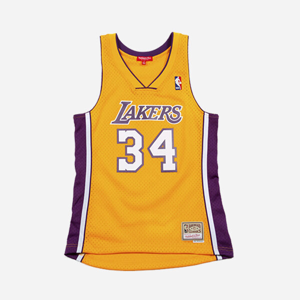 Mitchell And Ness Nba Swingman Jersey Los Angeles Lakers 99 Shaquille Oneal Mujer