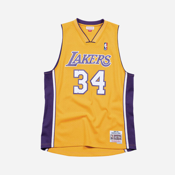 Mitchell And Ness NBA Swingman Jersey Los Angeles Lakers Home Shaquille O´neal  99-00