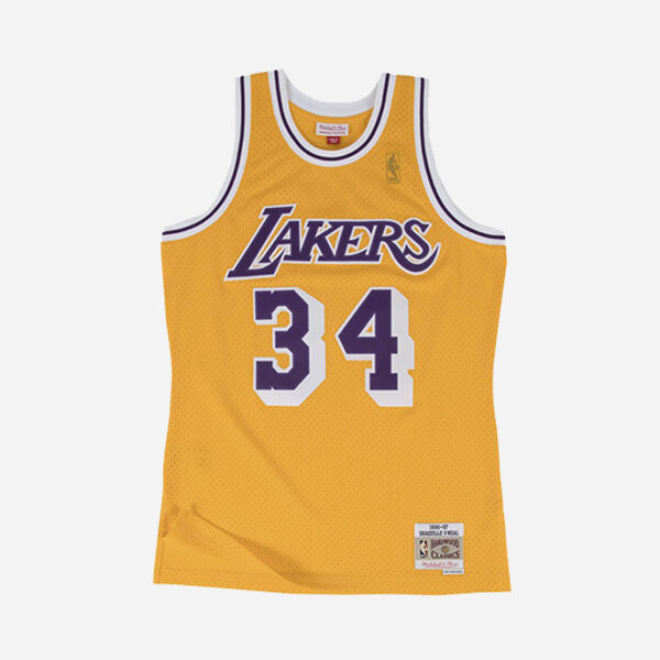 Mitchell And Ness NBA Swingman Home Jersey Los Angeles Lakers Shaquille O´neal  96-97